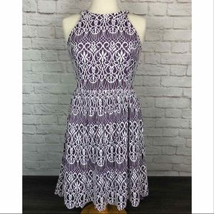 Altar'd State purple and white lace dress